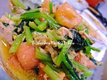 DSCF6・10小松菜のサラダ