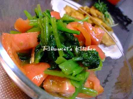 DSCF7・15小松菜とトマトの柚子胡椒サラダ