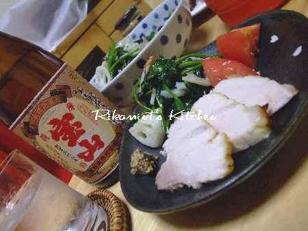 DSCF8・9焼酎&つまみ1