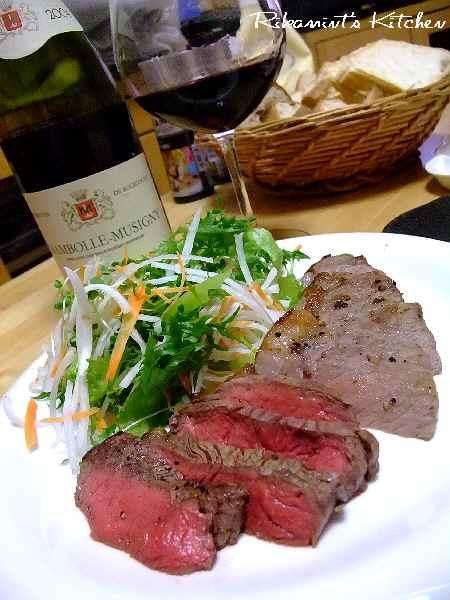 DSCF9・20ステーキ&ワイン3