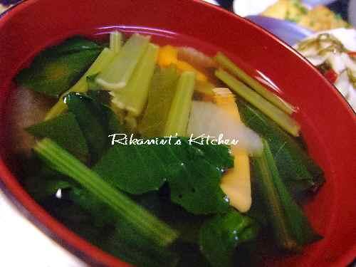 DSCF9・29スルメと野菜のお吸い物
