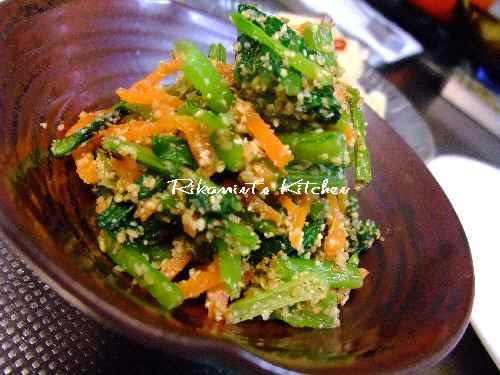 DSCF10・8小松菜と人参の胡麻和え