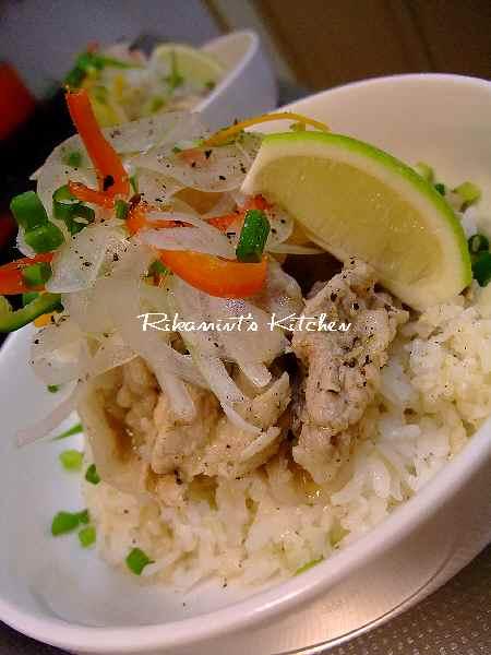 DSCF10・27豚塩レモン丼3