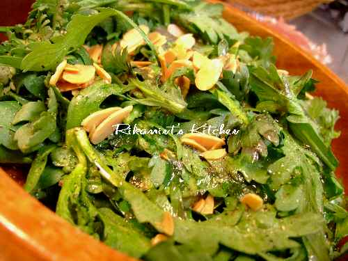 DSCF11・2春菊のサラダ