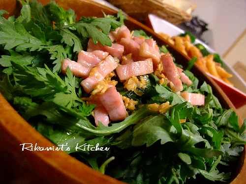 DSCF11・8春菊のサラダ