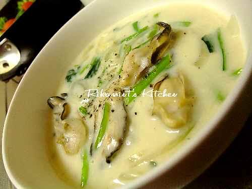 DSCF11・17小松菜と牡蠣のチャウダー1