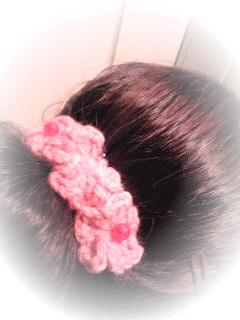 髪飾り~。