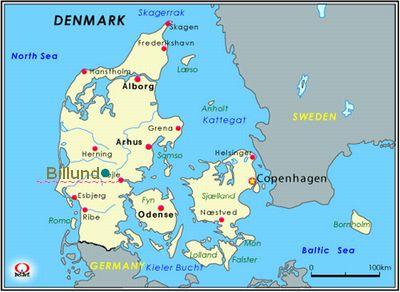 デンマーク地図