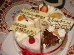 一周年記念ケーキ