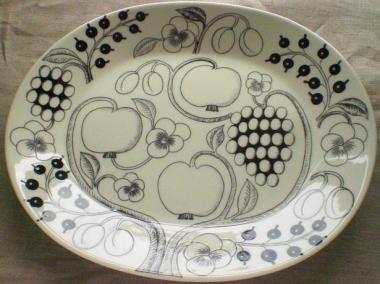 black paratiisi oval platter36cm