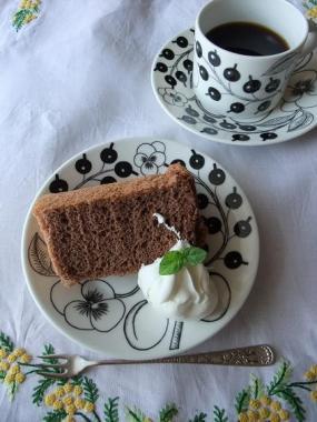 cocoa chiffon cake**
