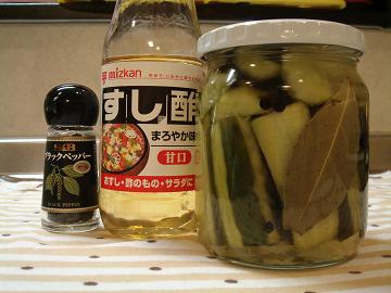 寿司酢でピクルス
