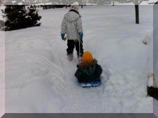 雪遊び66