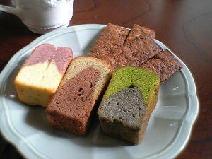 081101ポタジエ・紅芋、ごぼうとココア、小松菜とゴマのパウンドケーキ、玉ねぎクッキー