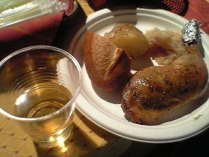 081102日仏学院ワイン祭・鶏肉ロースト