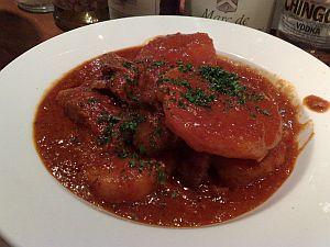 090117なりた・鴨肉とじゃが芋のトマトソース煮