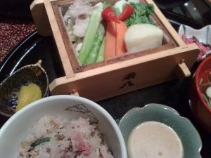 090313十六夜米八・蒸し野菜セット2