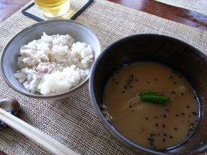 090704加形家宴会・鯛めし&汁
