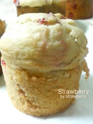 20080426苺酵母のいちごマフィン2