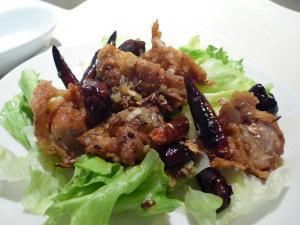 激辛辣子鶏(鶏の激辛唐辛子炒め)