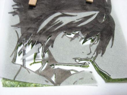海苔アート作り方7
