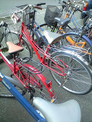 マンションの自転車置き場