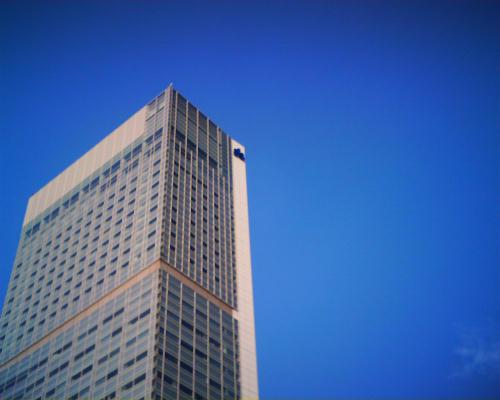 朱鷺メッセの空は青かった