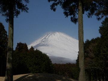 寒風の富士