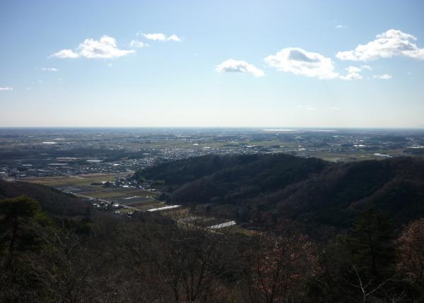 関東平野が見えます