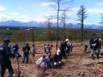 植樹祭でみた日高山脈