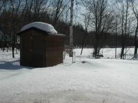 冬ですね~ 落葉松の防風林なんかがあっていかにも十勝の冬景色です。