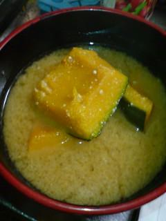 南瓜の味噌汁。