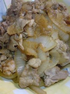 豚肉and玉葱の生姜焼
