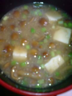 なめこ 豆腐の味噌汁
