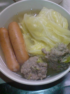 余り野菜でポトフ(σ゚ω゚)σネ