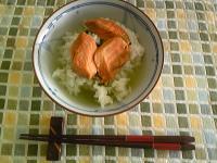 お茶づけ(焼き鮭)