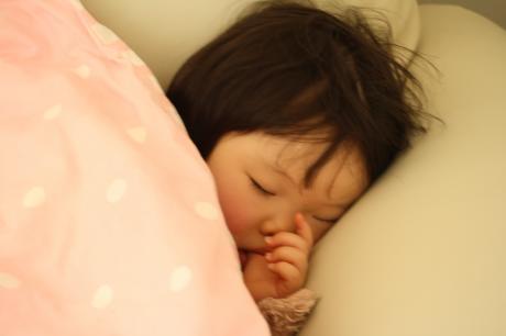 予防接種ショックな寝顔☆
