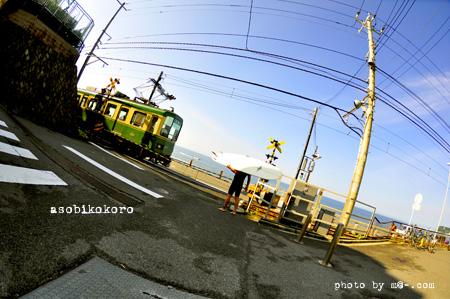 湘南と江ノ電とサーファー