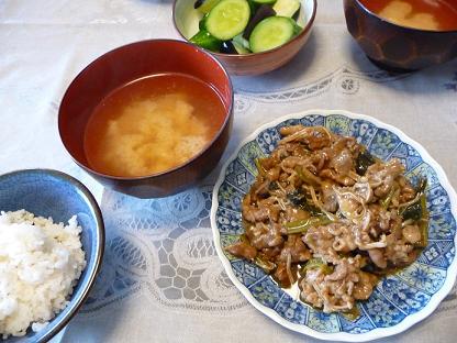 豚と小松菜のオイスターソース
