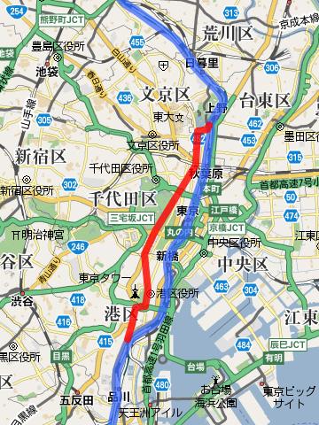 武蔵野台地の東端