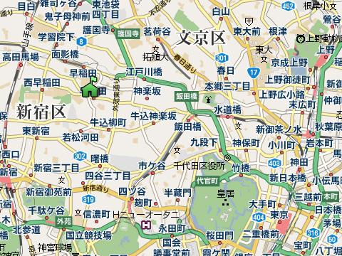 夏目漱石生家の場所