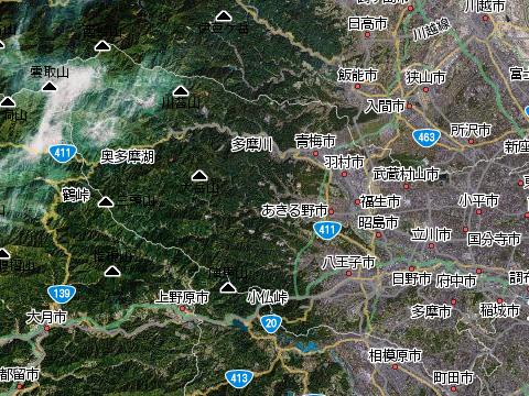 東京の西の果ては山