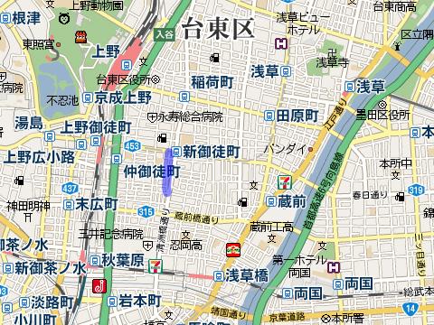 佐竹商店街の場所