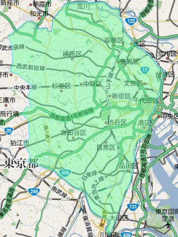 東京23区西側