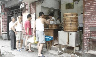 上海の朝ごはん