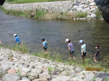 川遊びの始まり