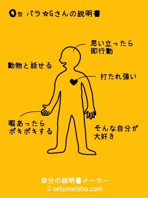 O型パラ☆Gさんの説明書