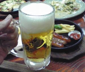 ビールにソーセージ最高!