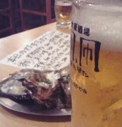 岩牡蠣とビール