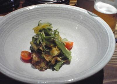 笹身菜の花アボカド和え